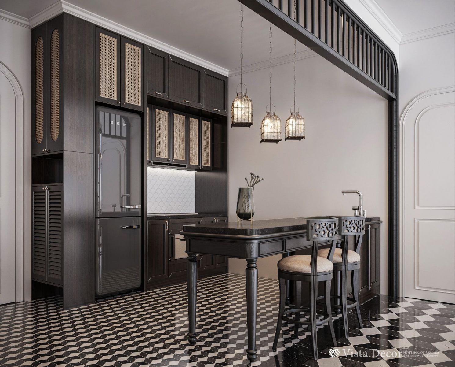 Thiết kế bếp căn hộ 2PN diện tích 110 - dự án Aria Vũng Tàu