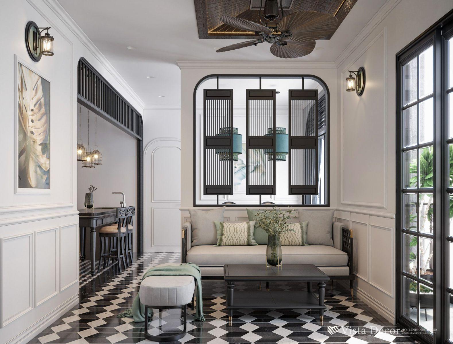 Thiết kế phòng khách căn hộ 2PN diện tích 110 - dự án Aria Vũng Tàu